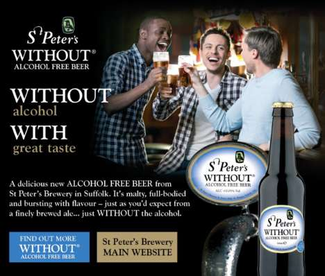 Full-Bodied Alcohol-Free Beers - 'St. Peter's Without' Delivers the Taste of Beer Without the Booze