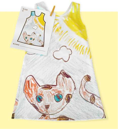Child-Drawn Clothing Brands - Picture This Clothing Turns Children's Drawings into Real Dresses