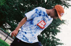 Tie-Dyed Japanese Skate Style - SAYHELLO's Editorial Showcases Retro Motifs and Whimsical Branding