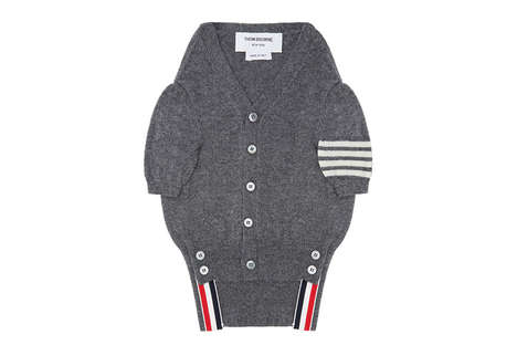 Dapper Designer Dog Clothes - Thom Browne Created a Luxurious Dog Sweater in Honor of His Pet Hector