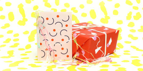 Abstract Artisan Gift Wrap - Hannah Richard's Unique Wrapping Paper Complements Gifts for Anything