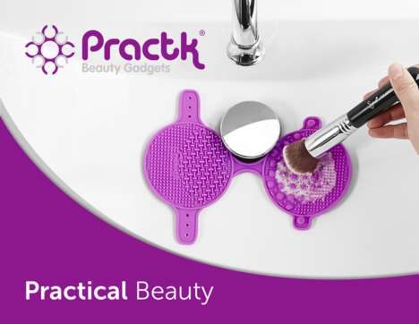 Makeup Brush Cleaning Tools - The Practk Palmat Brush Cleaner Makes It Easy to Clean Makeup Brushes