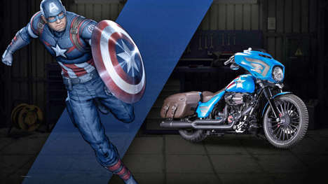 Heroic Custom Motorcycles - Super Hero Customs has Created a Series of Marvel-Themed Choppers
