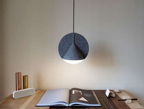 Hanging Retractable Lamps - This Modern Lamp is Stylish from All Angles
