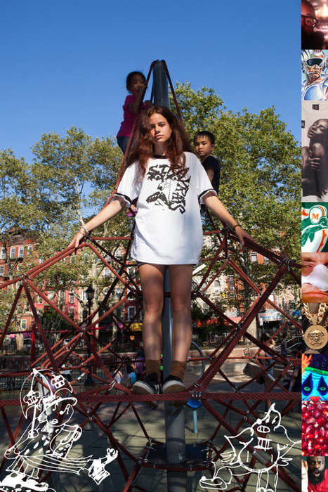 Childish Streetwear Editorials - Stray Rats' Summer Line is Presented Through Playground Photography