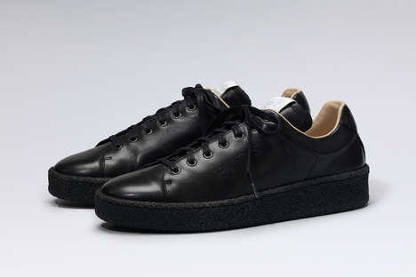 Monochrome Platform Sneakers - The 'Ace' Eytys Sneakers Pair a Sleek Modern Upper with a Thick Sole