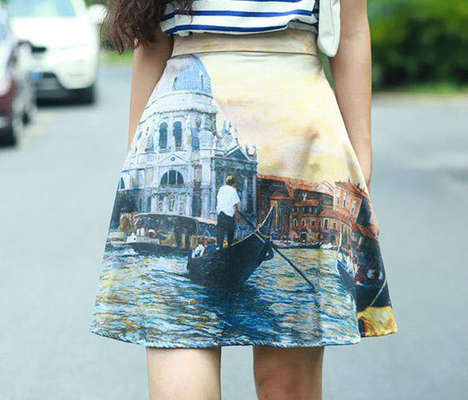Fine Art Clothing - This Brand Pastes Iconic Paintings onto Women's Clothing