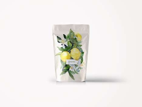 Botanical Tea Packaging Concepts - This Tea Branding Features Classical Paintings of Flowers
