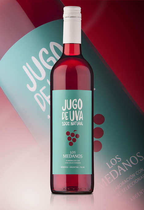 Wine-Inspired Grape Juices - This Juice Branding Appears in Packaging That Looks Like a Wine Bottle