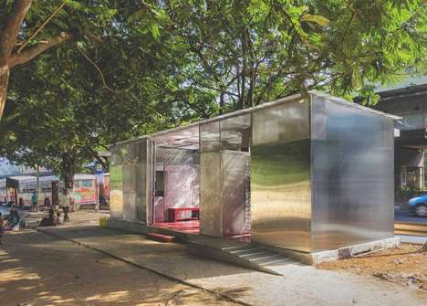 Social Public Restrooms - Rohan Chavan's 'The Light Box Restroom for Women' is a Safe Space