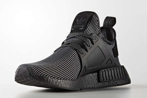 Synthetic-Covered Striped Sneakers - This adidas NMD XR1 Features a Futuristic Black and White Theme