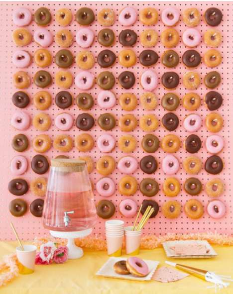 Donut-Covered Walls - This Craze is Becoming Popular at Weddings and Other Events