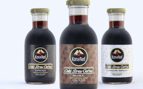 Hawaiian Cold Brew Brands - KonaRed Makes Flavored Cold Brew from Hawaiian Coffee Beans