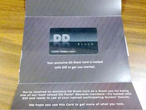 Coffee Shop Loyalty Cards - The Dunkin' Donuts Black Card is Reserved for Special Customers