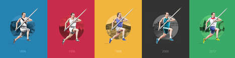 Evolutionary Olympic Graphics - These Gorgeous Illustrations Showcase Olympic Outfits Over 120 Years