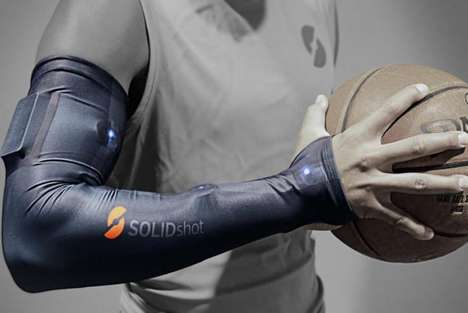 Coaching Basketball Sleeves - The 'SOLIDshot' Basketball Sleeve Improves Player's Aim with Sensors