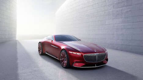 Luxury Class Coupes - The Vision Mercedes-Maybach 6 is Sleek in Design and Electric-Powered