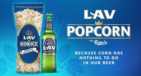 Promotional Beer Popcorn - Lav Created a Popcorn Beer to Celebrate a Change in Ingredients