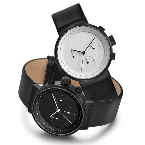 Minimal Monochrome Chronographs - This Watch is Inspired by the Simplicity in Japanese Design