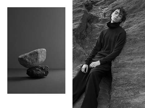 Stone-Inspired Menswear - Fingers Crossed Presented Its Black Menswear Series with a Moody Editorial