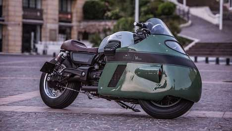 Fashionably Bespoke Motorbikes - This Custom Motorbike is Inspired By Old-School Moto Guzzi Bikes