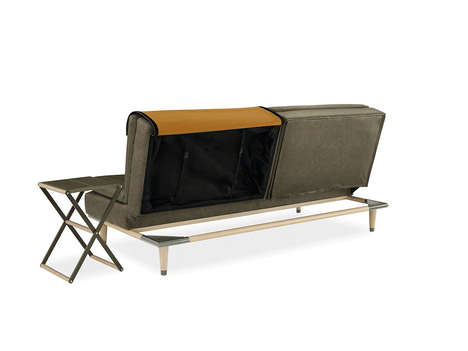 Adaptable Table Couches - The Dartmouth Sofa Convertible & Table Features a Hidden Stand Inside It