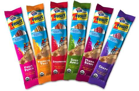 Active Fruit Leathers - The Clif Kid ZFRUIT Provide a Sweetened Serving of Vegetables For Kids