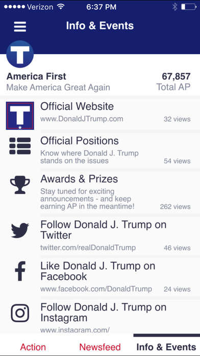 Gamified Politics Apps - The 'America First' App Is Targeted Towards Donald Trump Supporters