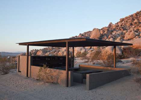 Secluded Camping Shelters - These Sleeping Shelters are Located Near Joshua Tree National Park
