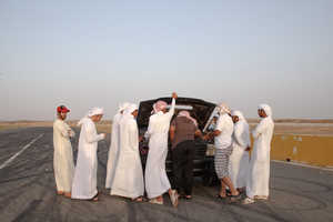 In 'Hajwalah,' Drivers Attempt to Ride Cars on Two Wheels