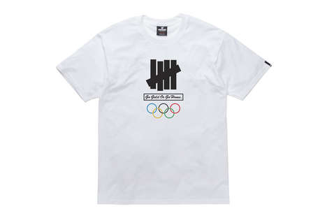 Athlete-Honoring Branded Tees - UNDEFEATED's Olympic Clothing Series Pays Tribute to USA Competitors