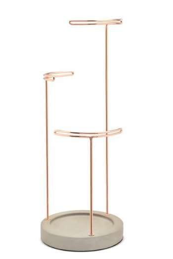 Copper Jewelry Stands - This Sophisticated Stand Allows Users to Organize Their Possessions