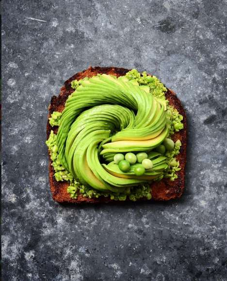 Swirled Avocado Photography - Colette Dike Artistically Arranges Avocado Slices in Her Food Photos