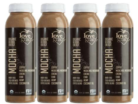 Mushroom-Infused Mocha Drinks - Love Grace's New Mocha Drink is Made with Medicinal Mushrooms