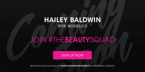 Edgy Celebrity Makeup Collections - Hailey Baldwin is Collaborating with ModelCo on a Makeup Line