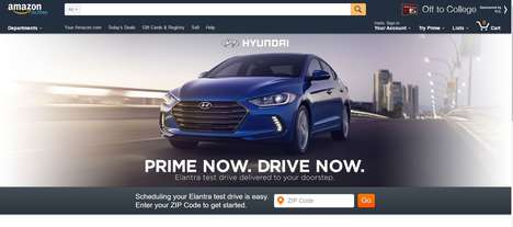 On-Demand Test Drives - Amazon will Deliver the 2017 Hyundai Elantra for Consumers to Test Drive