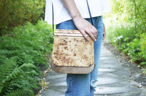 Modern Wooden Handbags - L'Essence Des Bois Offers Artfully Made Accessories for Men and Women