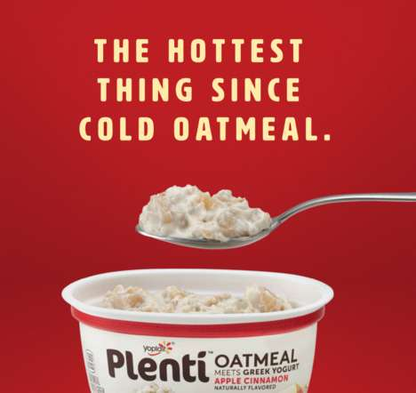 Yogurt-Based Oatmeal Cups - Yoplait's New Plenti Oatmeal Cups are Made with Greek Yogurt