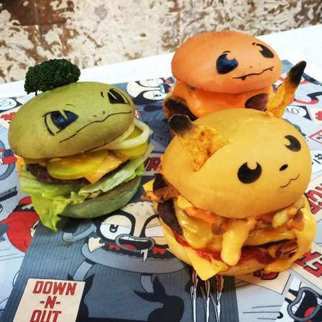 Anime Character Burgers - These Colorful Pokéburgers Cater to Pokémon GO Enthusiasts