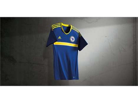 Ventilated Soccer Jerseys - The New Bosnia and Herzegovina Jersey Features Climate Cooling Features