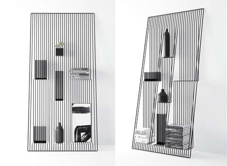 Illusory Wire Shelves - The 'Field' Bracket by Dmitry Kozinenko Uses Cables to Hold Objects
