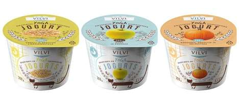 Nutritional Protein Yogurts - The YOGA Yogurts Provide Added Fibre and Grains For Increased Energy