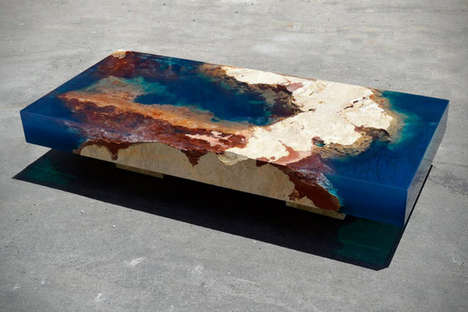 Aquatic Coral Tables - Alexandre Chapelin Recreates The Sea Coral Using Resin in 'La Table'