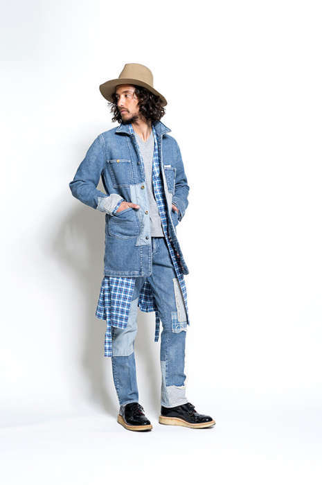 Patched Winter Menswear - Seveskig's Latest Collection Includes Patched Denim, Leather and Cargos