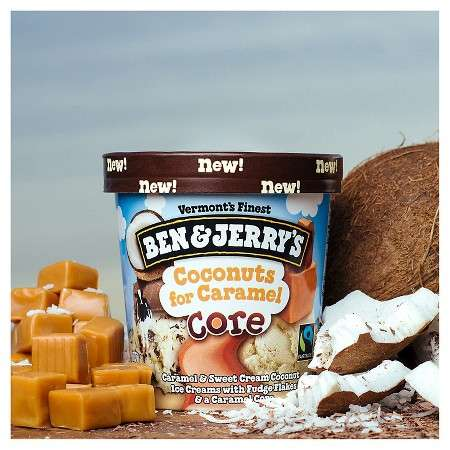 Exotic Caramel Ice Creams - This 'Coconuts for Caramel' Ice Cream is Compartmentalized in Its Pint