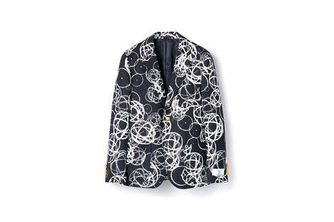 Graffiti-Printed Blazers - Futura Joined with NIGOLD by UNITED ARROWS for a Short Series of Apparel