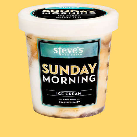 Breakfast-Themed Ice Creams - 'Sunday Morning' from Steve's Ice Cream Tastes Like Breakfast