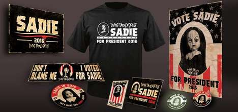 Campaigning Doll Kits - Mezco's Living Dead Doll 'Sadie' is Running for President