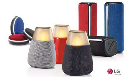 Illuminated Bluetooth Speakers - These New LG Speakers Offer a Mix Of Durability and Compactness