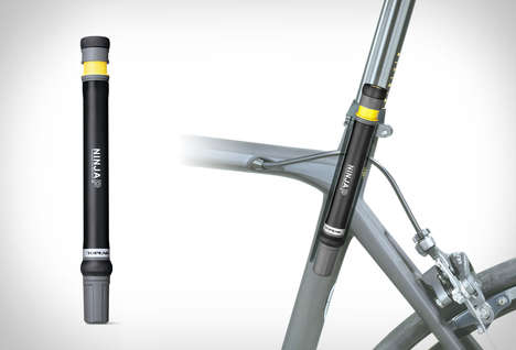 Compact Bicycle Pumps - The Ninja P Mini-Pump is Small and Portable in Size to Clip Onto Bike Seats
